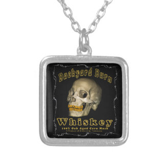 Backyard Burn Whiskey Silver Plated Necklace