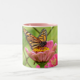 Backyard Butterfly Two-Tone Coffee Mug