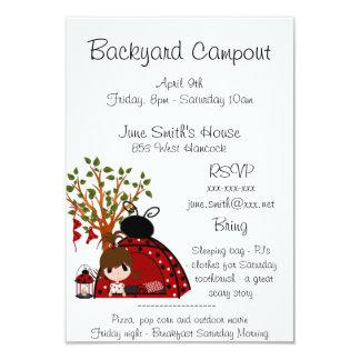 Backyard Campout Card
