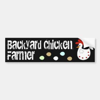 Backyard Chicken Farmer Car Bumper Sticker