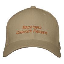 Backyard Chicken Farmer Embroidered Baseball Cap