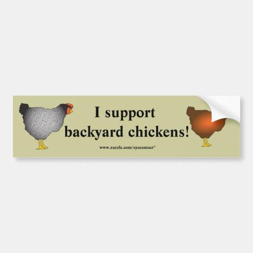 Backyard chickens Bumper Sticker