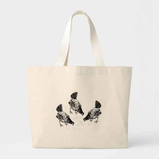 Backyard Chickens Large Tote Bag