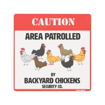 ChickinBoots Backyard Chickens Security Company Metal Print