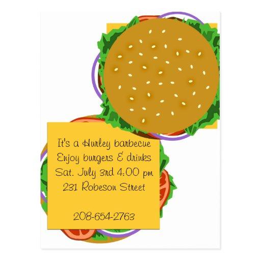 Backyard Cookout Menu: Backyard Cookout Invitation Postcard