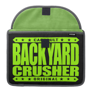 BACKYARD CRUSHER - I Fight Without Quitting, Lime Sleeve For MacBook Pro