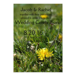 Backyard Dandelions Wedding Invitation