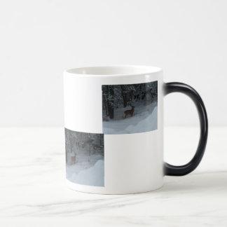 Backyard Deer Magic Mug