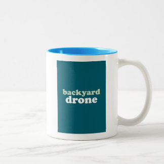 """Backyard Drone"" Two-Tone Coffee Mug"
