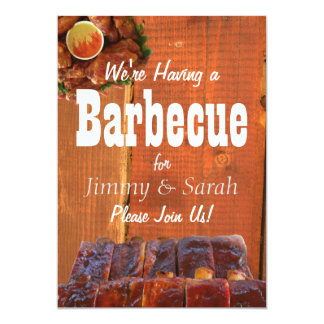 Backyard Engagement BBQ Party Card
