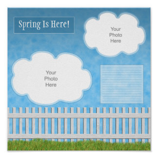 Backyard Fence Scrapbook Page Poster