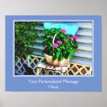 Backyard Flower Garden Chair Personalized Poster