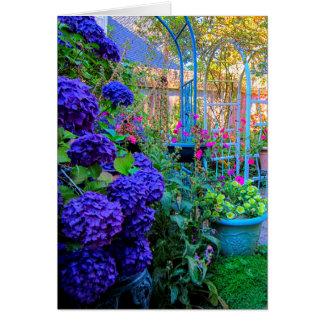 Backyard Flowers Card