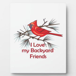 BACKYARD FRIENDS PLAQUES