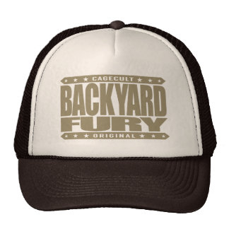 BACKYARD FURY - Focused Aggressive Fighter, Gold Trucker Hat