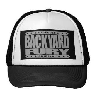 BACKYARD FURY - Focused Aggressive Fighter, Silver Trucker Hat