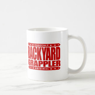BACKYARD GRAPPLER - Love To Train Jiu-Jitsu, Red Coffee Mug