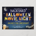"""Backyard Halloween Movie Night Scary Boy Birthday Invitation<br><div class=""""desc"""">★ Backyard Halloween Movie Night Birthday Invitation! ★ Easily PERSONALIZE this design with your details! ★ If you need coordinating MATCHING ITEMS, please check our matching collection or shop. Do you have any questions about our designs or if you can't find what you are looking for, please contact us: designmypartystudio@gmail.com....</div>"""