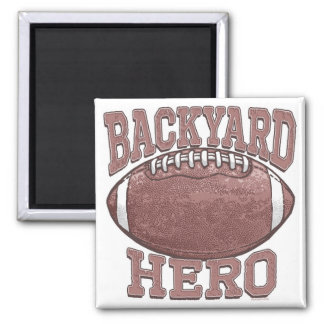 Backyard Hero Football Gear 2 Inch Square Magnet