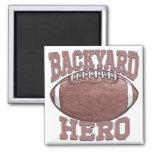 Backyard Hero Football Gear Refrigerator Magnets