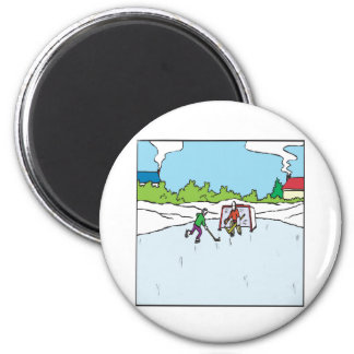 Backyard Hockey Magnet