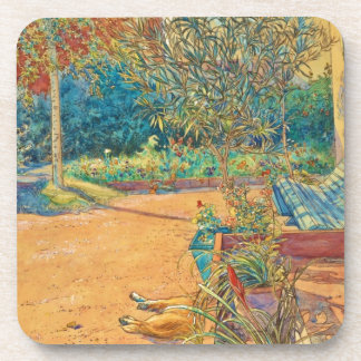 Backyard in the Summer Beverage Coaster