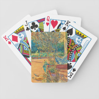 Backyard in the Summer Bicycle Playing Cards