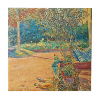 Backyard in the Summer Ceramic Tile