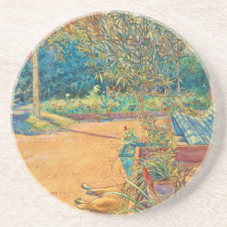 Backyard in the Summer Drink Coaster