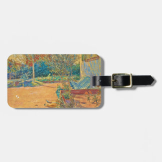 Backyard in the Summer Luggage Tag