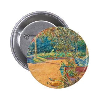 Backyard in the Summer Pinback Button