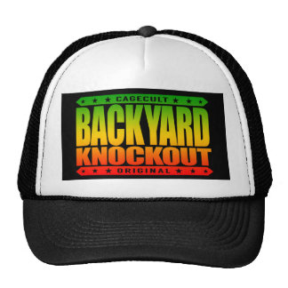 BACKYARD KNOCKOUT - Concussions in the Hood, Rasta Trucker Hat
