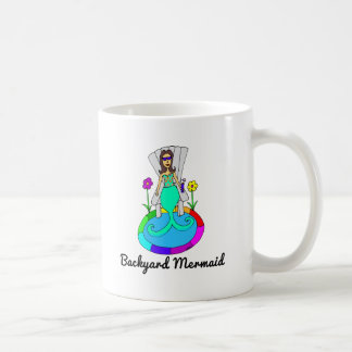 Backyard Mermaid Coffee Mug
