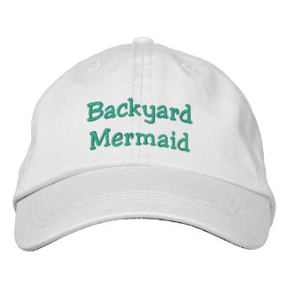 Backyard Mermaid Embroidered Baseball Cap