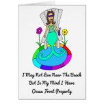 """Backyard Mermaid """"I May Not Live At The Beach..."""" Greeting Card"""