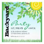 Backyard Party invitation