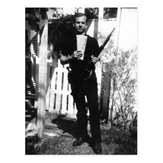 Backyard Photo of Lee Oswald Taken in March 1963. Postcard