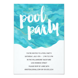 Backyard Splash | Pool Party 5x7 Paper Invitation Card