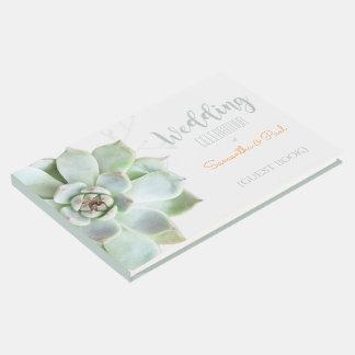 Backyard Succulent Wedding Guest Book