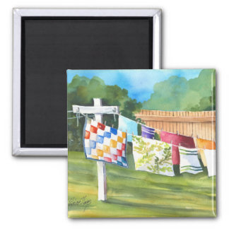 Backyard Washline Magnet