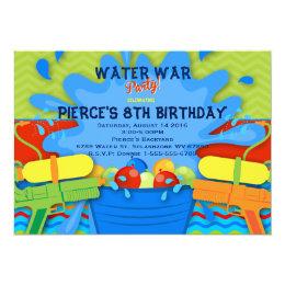 Water gun invitations announcements zazzle backyard water party invitation stopboris Choice Image
