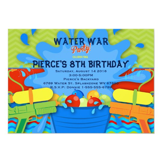 Backyard Water Party Invitation | Zazzle.com