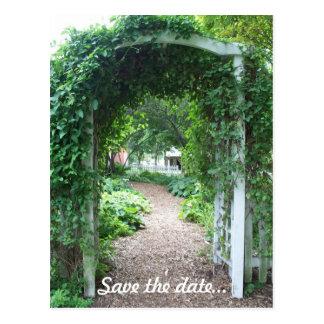 Backyard Wedding - Save the Date Postcard