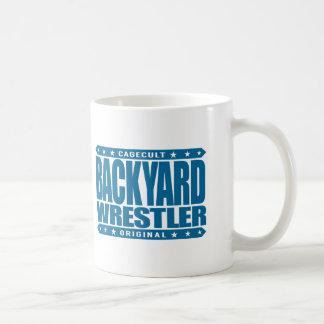 BACKYARD WRESTLER - Love to Train Grappling, Blue Coffee Mug