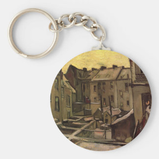 Backyards of Old Houses, Antwerp; Vincent van Gogh Key Chain