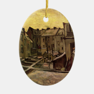 Backyards of Old Houses by Vincent van Gogh Ceramic Ornament