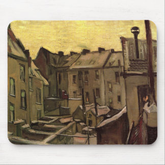 Backyards of Old Houses by Vincent van Gogh Mouse Pad