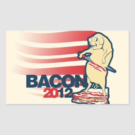 Bacon 2012 rectangle stickers