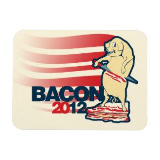 Bacon 2012 rectangular photo magnet