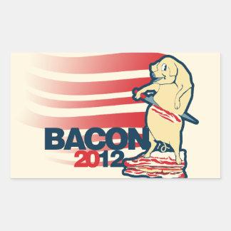 Bacon 2012 rectangular sticker